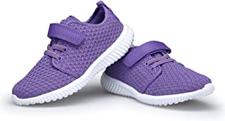 Denater Kids Breathable Running Sneakers Easy Walk Lightweight Shoes Sport Casual Shoes Boys Girls