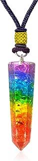Orgone Pendant - Emf Protection Crystal Chakra Gemstone Orgonite Necklace for Emotion Relief -Balance Chakra Self Inner Healing