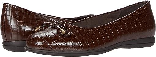 Dark Brown Croco Veg Calf Leather
