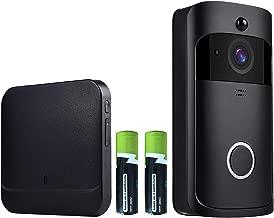 Video Doorbell- OnLyee WiFi 1080P Full HD Real-time Smart Doorbell with IP 65 Waterproof, PIR Montion Detection, Free Cloud Storage, Two-Way Audio and 433Mhz Doorbell Chime (1080P Black)