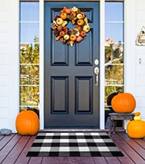 """Buffalo Plaid Outdoor Rug 23.6"""" x 35.4"""", Black and White Outdoor Rug Washable Welcome Fall Door Mat Checkered Rug Doormat ..."""