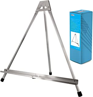 US Art Supply Aluminum Tabletop Easel Tri-Pod Display Table Top Design with Rubber Feet (Large - NO Arms)