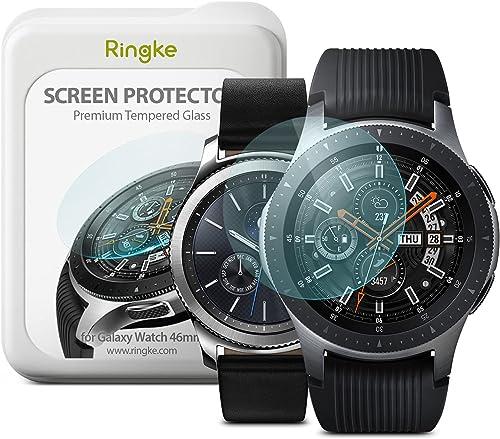 Ringke Protecteur d'écran pour Galaxy Watch 46mm, Gear S3 [3+1 Pack] [VERRE TREMPÉ] Invisible Defender Glass Qualité ...