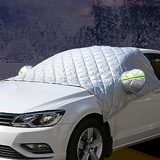 Wakauto 150 x 80 cm Protetor solar para para-brisa de carro Protetor solar dobrável para janela frontal de carro
