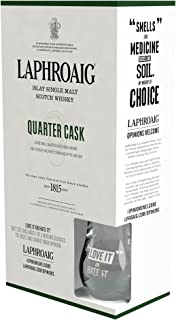 Laphroaig Quarter Cask Islay Single Malt Scotch Whisky Geschenkverpackung mit Tumbler 1 x 0,7 l
