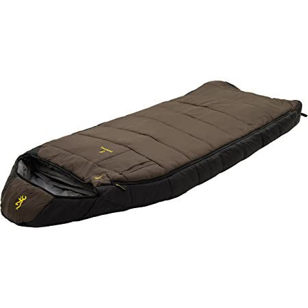 Browning Camping McKinley -30 Degree Sleeping Bag, Clay/Black, 36-Inch x 90-Inch