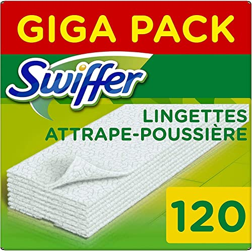Swiffer - Recharges Lingettes Sèches pour Balai Attrape-Poussière - 3x40 (120 lingettes)