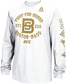 UFC 220 Boston UFC Men's White Official Weigh in T-Shirt