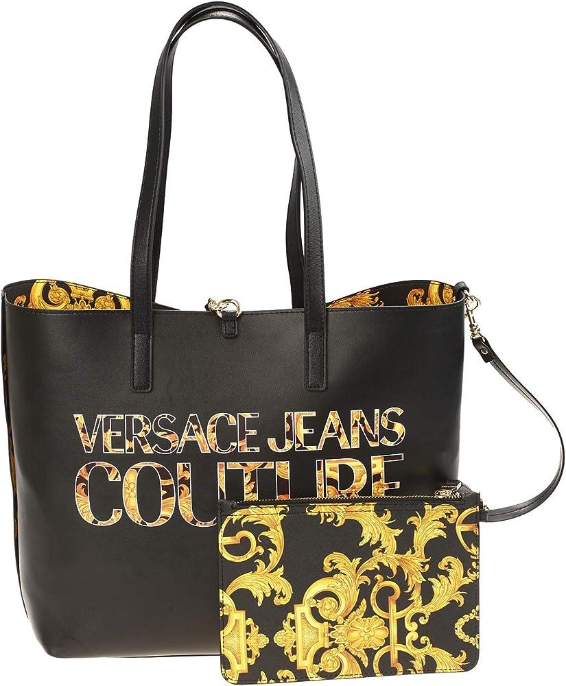 Versace jeans, borsa piu` pochette da donna, in ecopelle