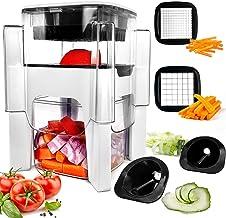 Vegetable Chopper, Fun Life 4 in-1 Food Chopper Cutter Slicer Dicer, Manual Veggie Slicer for Cutter, Dicer, Spiralizer fo...