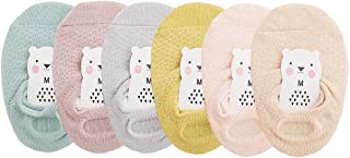 CHUNG Toddler Little Girls Thin No Show Cotton Socks Baby Floor Walking Low Cut Ankle Summer Fashion Fun Casual (6 Pairs M...