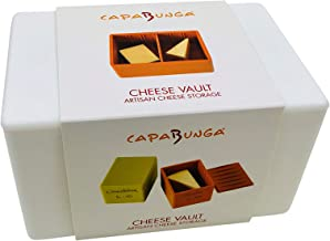 Capabunga CV3 Cheese Vault Food Storage Box, One Size, White