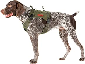 OneTigris Tactical Service Dog Vest – Water-Resistant Comfortable Military Patrol K9 Dog Harness with Handle