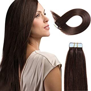 (16inch40g, 2 ) - Beauty On Line Tape In Human Hair Extensions 41cm 20pcs 40g/pack Slilky Straight Seamless Skin Weft Remy...