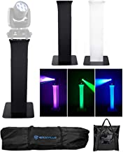 1 Totem Stand w/Carry Bag+Black+White Scrims For Chauvet Pro Rogue R1 Wash Light