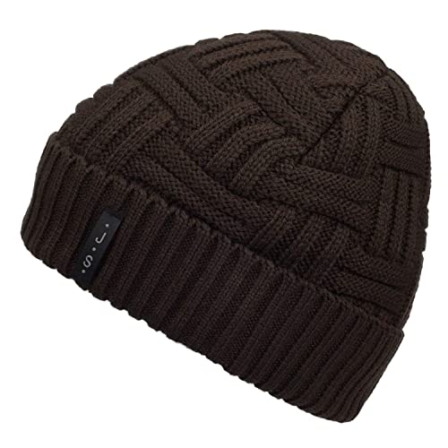 09219f63913 METOG Unisex Winter Knitting Beanie Hat Soft Stretch Cable Knit Men Hats  Wool Skull Cap Warm