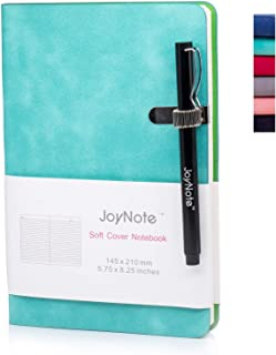 JoyNote A5 Classic Notebook with Pen Holder, College Ruled Small Journal, Thick Paper Harcdcover Notebooks Journal, Aqua Blue, 96 Sheets/192 Pages, 5.75 x 8.25 inches