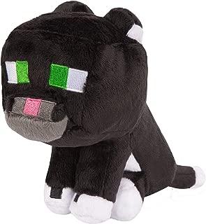 JINX Minecraft Tuxedo Cat Plush Stuffed Toy, Black/White, 8