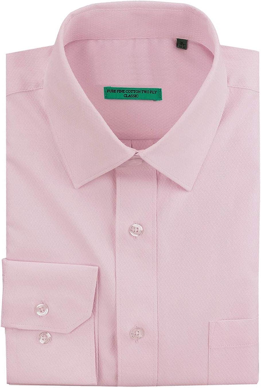 DTI BB Signature Men's Classic Fit Tone On Tone Diamond Pure Cotton Dress Shirt