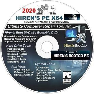 Hiren`s Boot CD/DVD PE x64 bit Software Repair Tools Suite 2020 latest version 16.3 Best PC Computer Repair Recovery Windo...