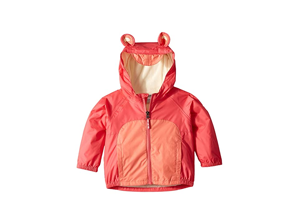 Columbia Kids Kitteribbittm Fleece Lined Rain Jacket (Infant/Toddler) (Bright Geranium/Hot Coral/Lime Freeze) Girl
