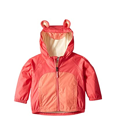 Columbia Kids Kitteribbittm Fleece Lined Rain Jacket (Infant/Toddler) (Bright Geranium/Hot Coral/Lime Freeze) Girl