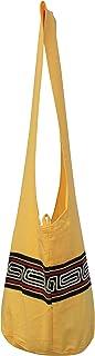 RaanPahMuang Brand Yaam Monks Cotton Shoulder Bag with Chinese Grain Line Motif