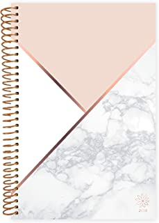 """bloom daily planners 2019 Calendar Year Day Planner - Passion/Goal Organizer - Monthly and Weekly Dated Agenda Book - (January 2019 - December 2019) - 6"""" x 8.25"""" - Color Blocking Marble"""