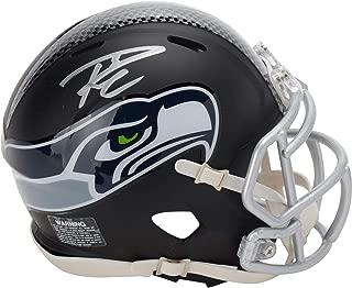 Russell Wilson Seattle Seahawks Autographed Riddell Black Matte Alternate Speed Mini Helmet - Fanatics Authentic Certified