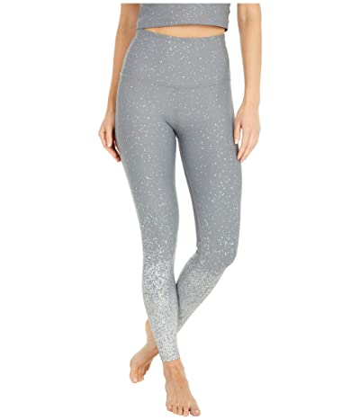 Beyond Yoga Alloy Ombre High Waisted Midi Leggings (Stone Gray Silver Dizzy Speckle) Women