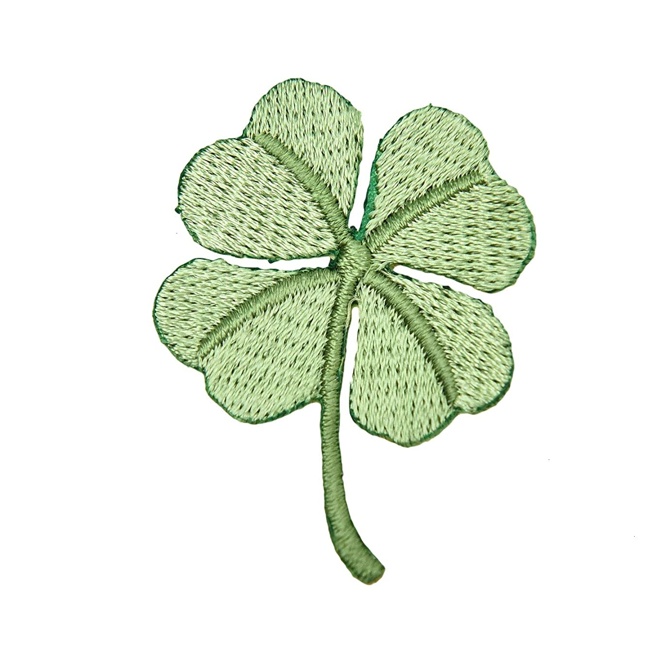 Monrocco 6 pcs Four Leaf Clover Embroidered Patches Lucky Patches Iron On Patches Sew On Applique Patch for Clothes DIY Sewing Accessories