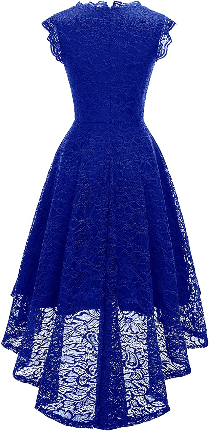 MODECRUSH Women Hi Low Formal Cocktail Party Evening Wedding Special Occasion Dress