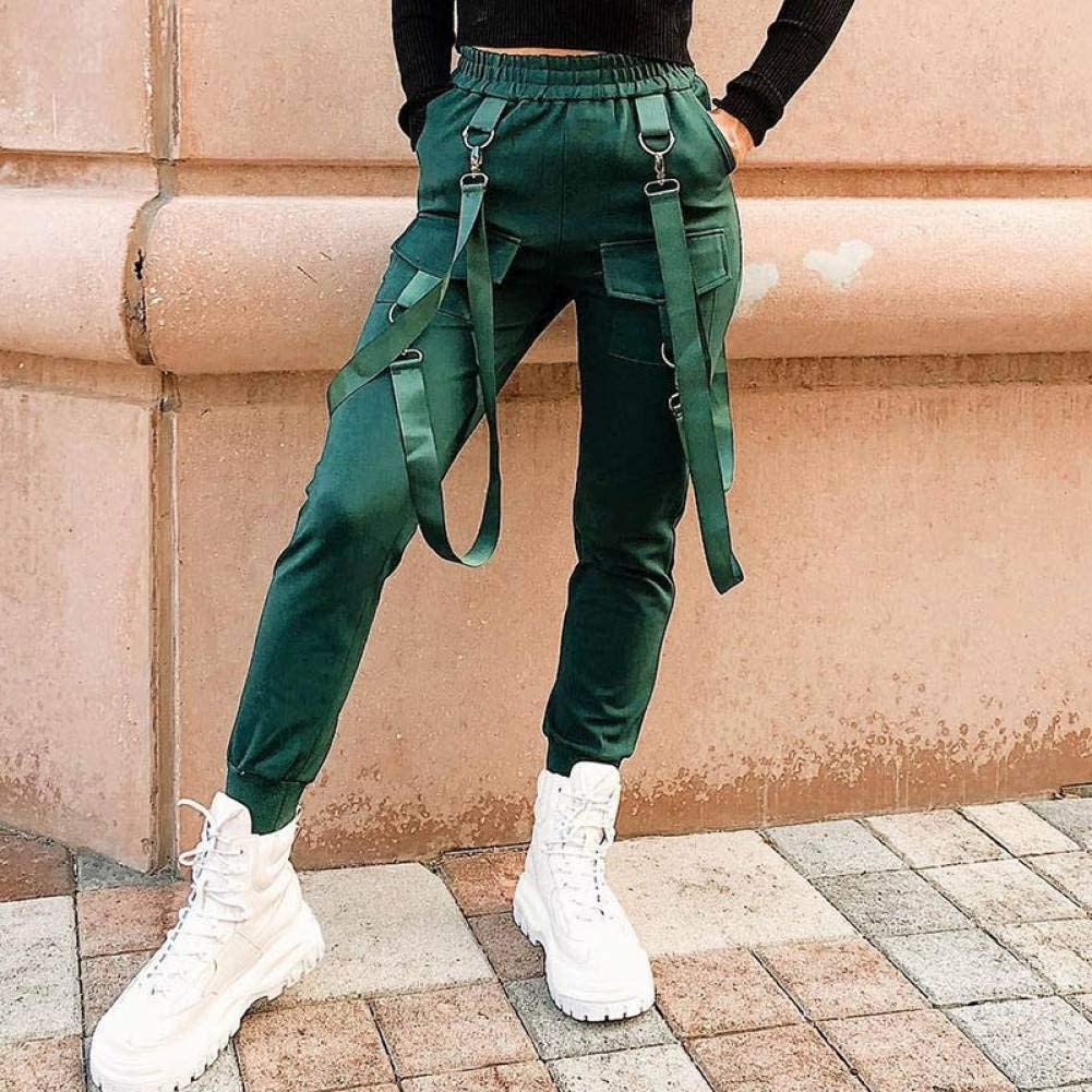 Ckbyth Pantalones Streetwear Pantalones Harem De Algodon Pantalones Cargo Mujer Negro Cintura Alta Pantalones Joggers Coreanos Sueltos Pantalones De Mujer Pantalones De Chandal Amazon Es Ropa Y Accesorios