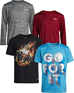Boys Performance Quick Dry Athletic Sports T-Shirt (4-Pack)