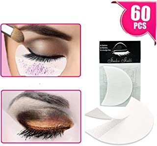 TailaiMei 60 Pcs Professional Eyeshadow Shields for Eye Makeup, Lint Free Eye Pad for Eyelash Extensions/Tinting and Lip Makeup - Under Patches Guards Prevent Makeup Residue