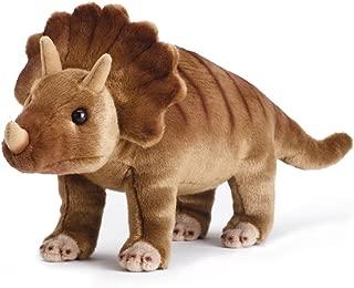 DEMDACO Watchful Triceratops Dinosaur Striped Children's Plush Stuffed Animal