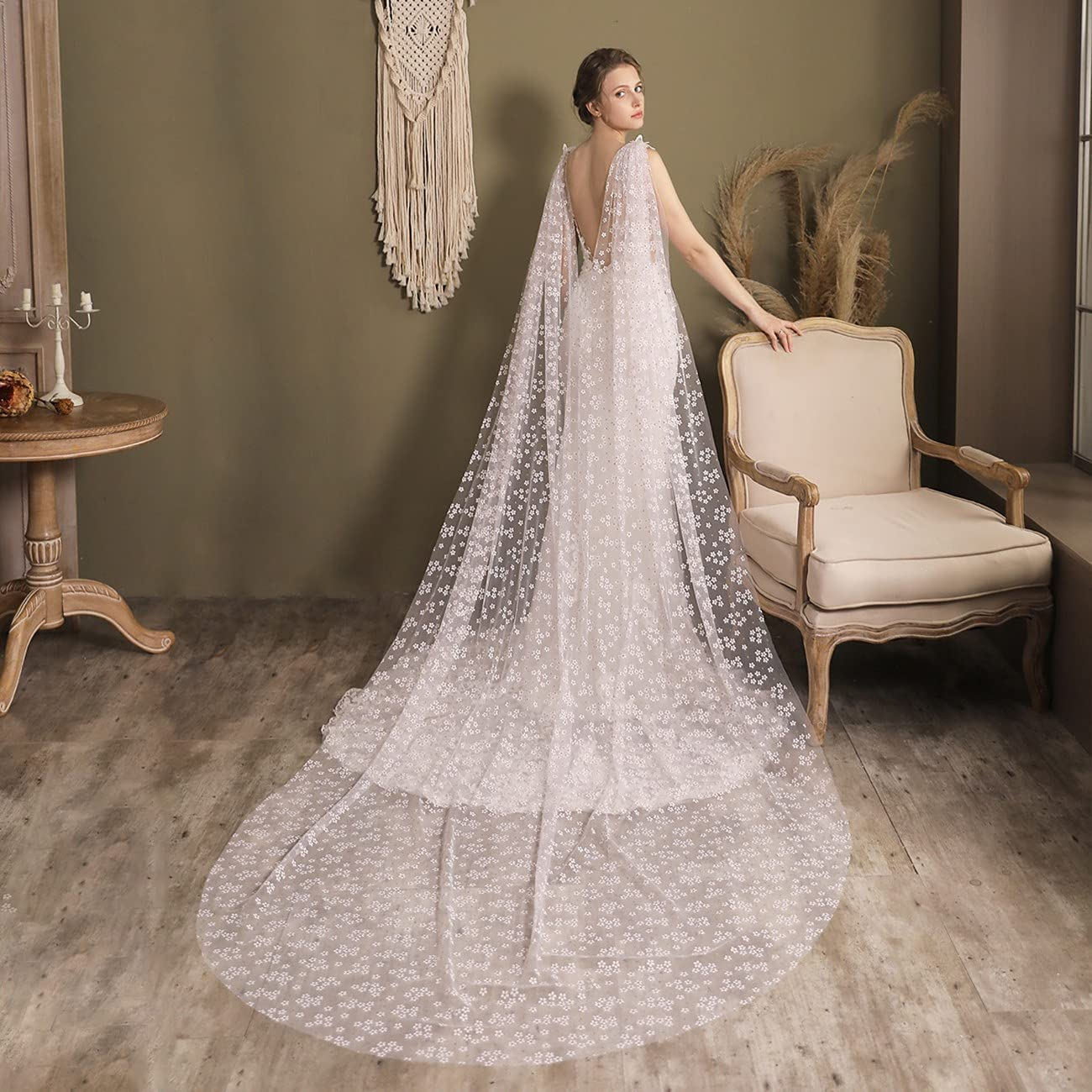 JZJZ Bride Wedding Veil Cathedral Inexpensive 1 35% OFF Tier Bridal Tulle with Long