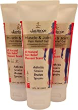 3 Pack Jadience Muscle & Joint Pain Relief Gel: 4.5oz Each Tube | Fast Acting, Long Lasting Analgesic | All Natural Herbal Formula | Pleasant Scent