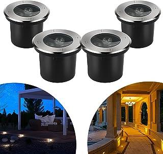 CPROSP 4pcs 3W Spot LED Encastrable Exterieur Rond LED Blanc Chaud Éclairage de Chemin Jardin Éclairage Encastré pour Sent...