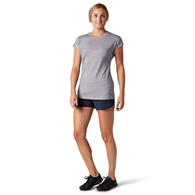 Smartwool Merino Sport 150 Tee (Light Gray Heather) Women