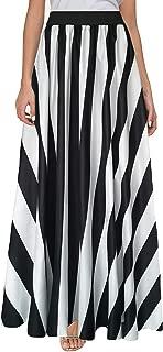 Women's Chiffon Stripe Maxi Skirt High Waist Mopping Floor Skirts