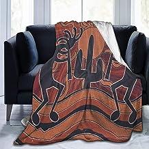 Yangzhi Western Southwest Fertility Daciing Kokopelli Art Full Fleece Throw Cloak Wearable Blanket Flannel Fluffy Comforte...