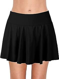 Women's Athletic Swim Skirt Plus Size Skirted Bikini Bottom Solid Color Vantage Tankini
