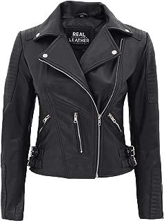 Best women's leather motorcycle jacket black Reviews