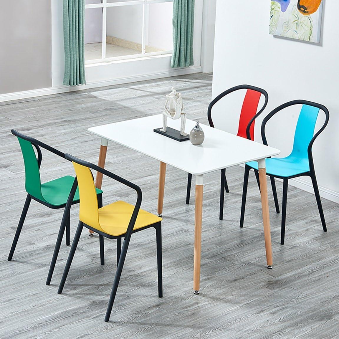 HWL Les chaises américaines modernes de dossier dinant la chaise, chaise créatrice en plastique de mode de ménage (Color : Red) Green