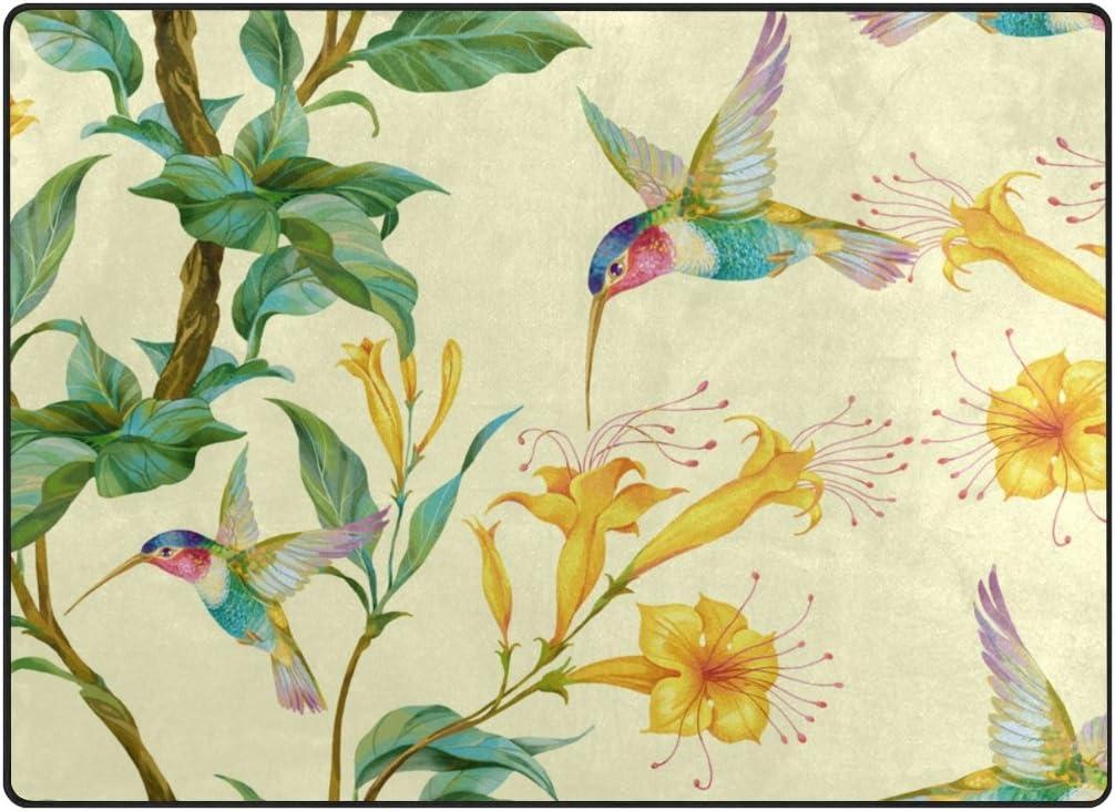 ALAZA My 安い Daily Hummingbird with Flower Area セール 登場から人気沸騰 Yellow 5'3