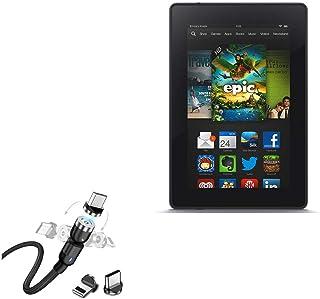 Cabo para Kindle Fire (1ª geração 2011), BoxWave [MagnetoSnap AllCharge] Cabo de carregamento magnético USB tipo-C Micro U...