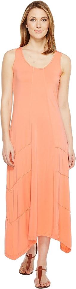 Cotton Modal Spandex Jersey Seamed Maxi Tank Dress