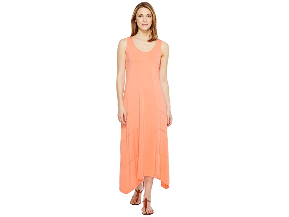 Mod-o-doc Cotton Modal Spandex Jersey Seamed Maxi Tank Dress (Tigerlily) Women