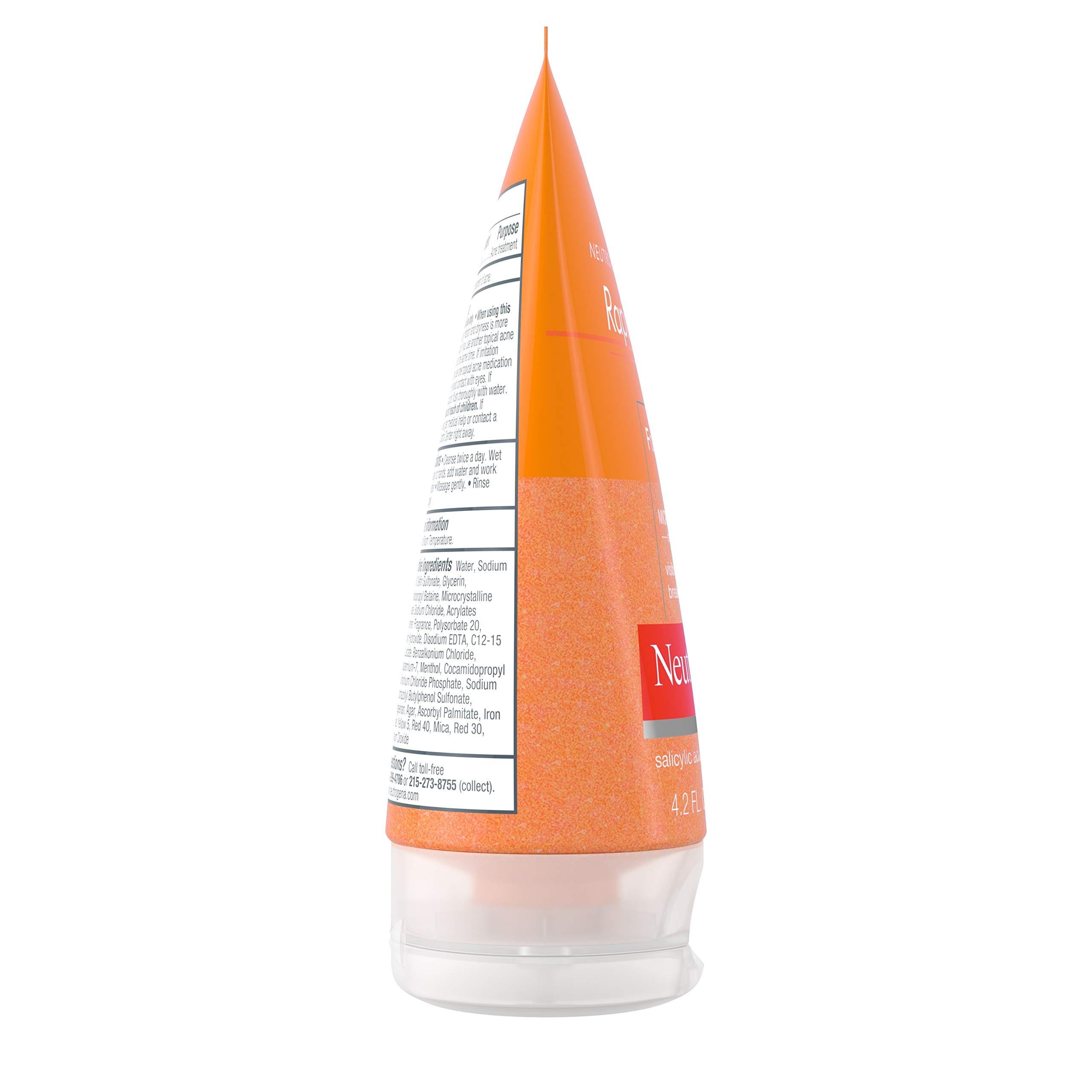 Neutrogena Rapid Clear Foaming Exfoliating Facial Scrub with Salicylic Acid Acne Medicine For Breakouts and Acne-Prone Skin, 4.2 fl. oz